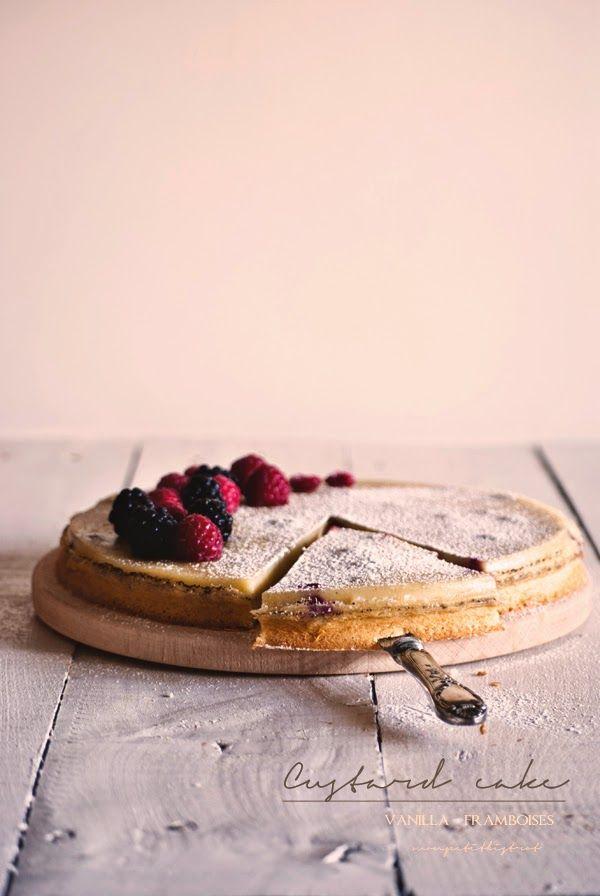 Mon petit bistrot: Custard cake vanilla-framboises