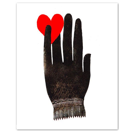 Hand with Heart  ART Print 8 x 10 by RococcoLA on Etsy, $19.00