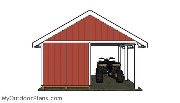 1000 images about outdoor shed plans free on pinterest for Atv shed plans