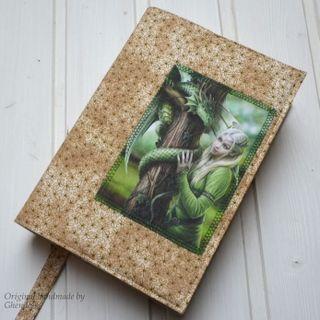 Univerzální obal na knihu - Elfka s drakem