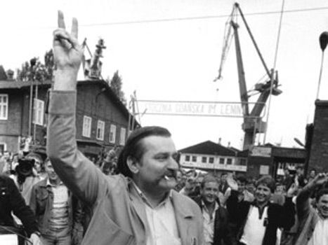 Solidarnosc, a trade union against communist regime in Poland 1989, led by Lech…