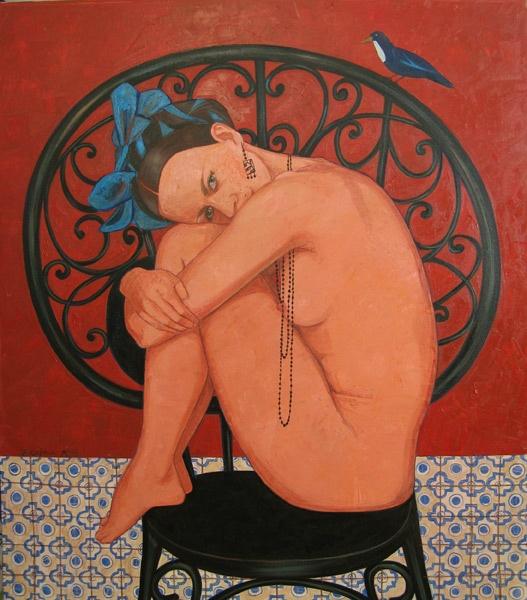 Autorretrato castellano  oil/canvas 80x70 cm, 2013.