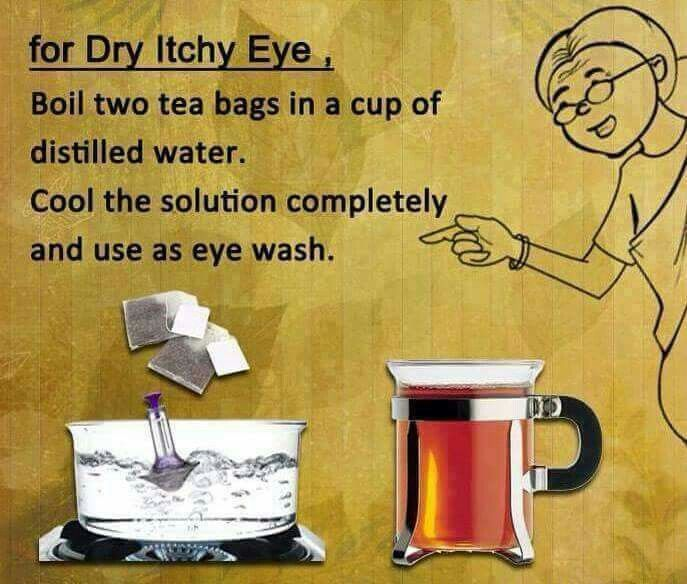 Dry itchy eye
