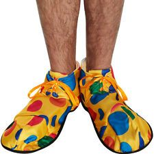 Oversized Multi-Coloured Polka Dot Clown Shoes Fancy Dress Accessory