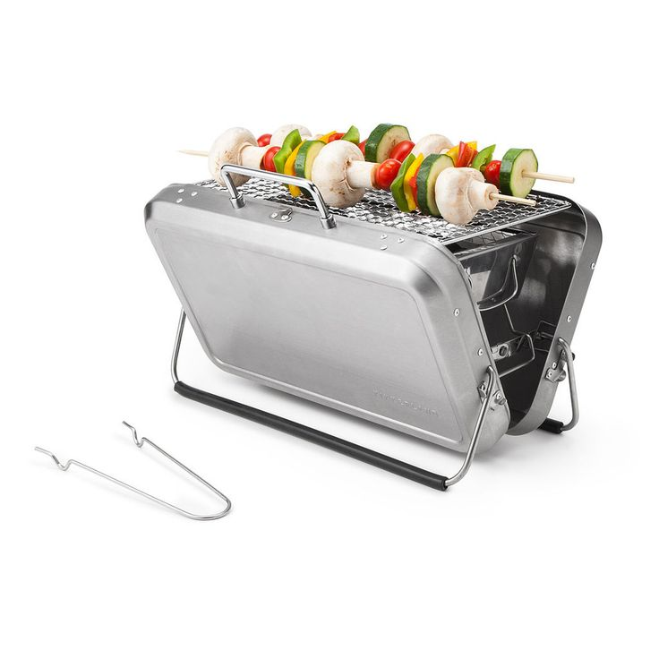 This portable BBQ grill lets you take the show on the road.