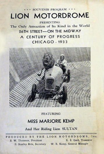 At The Lion Motordrome, Chicago 1933