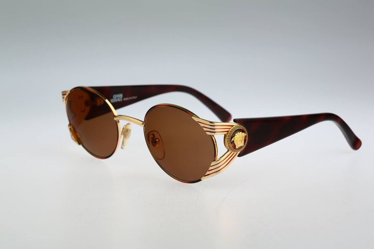 Gianni Versace Mod S65 Col 31L / Vintage sunglasses / NOS / 90s and all time being luxury! by CarettaVintage on Etsy