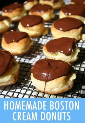 Learn how to make bakery-worthy Boston cream donuts at home with this recipe that produces crisp edges, creamy, smooth filling & decadent chocolate topping.