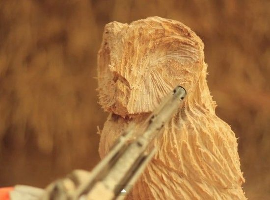 Owl Wood Sculpting with a Video