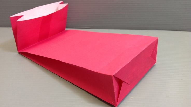 """How to Make an Origami Gift Bag with a Gusset for Holidays - Extra allowances approx 1/2"""", 4"""" and 6""""."""