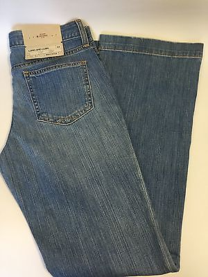 GAP Women's 6R Long And Lean Stretch Jeans Flare Leg Low Rise Stretch NEW!