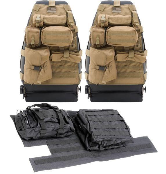 Smittybilt Front G.E.A.R. Seat Covers with Free Tailgate Cover for 97-06 Jeep® Wrangler TJ & Unlimited