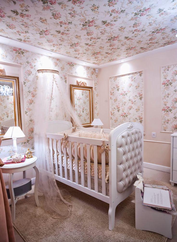 Decor Salteado - Blog de Decoração e Arquitetura : Suíte bebê menina com estilo provençal - linda!