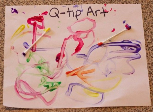 "letter Q ideas - q tip art and ""quack"" craft"