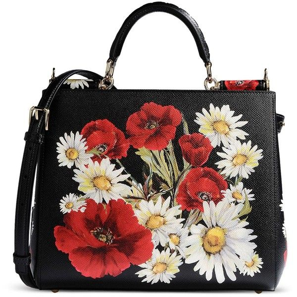 Dolce & Gabbana Medium Leather Bag ($2,260) ❤ liked on Polyvore featuring bags, handbags, shoulder bags, purses, black, leather shoulder bag, hand bags, mini purse, leather hand bags and man bag