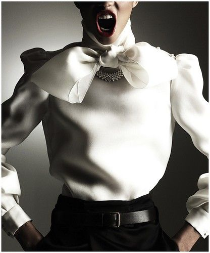 White blouse with bow - Proenza Schouler