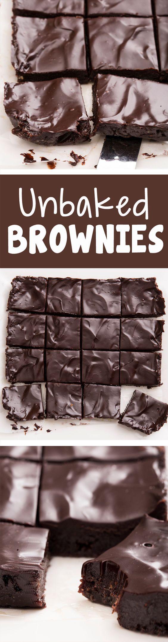 Secretly healthy unbaked brownies