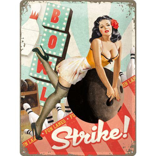 Nostalgic-Art Blechschild 30x40cm 'Strike'