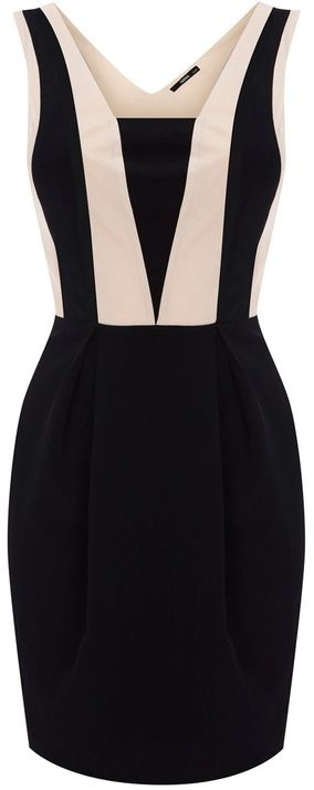 So chic and flattering -Oasis Colourblock Panel Dress