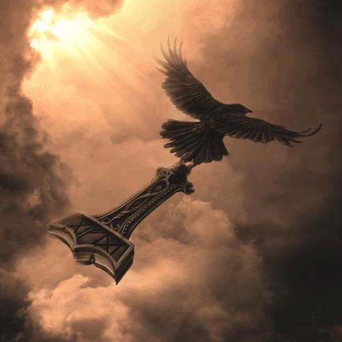 Hugin or Munin with Mjolnir