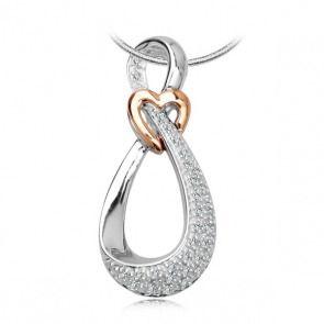 Złoty wisiorek z diamentami - Biżuteria srebrna dla każdego tania w sklepie internetowym Silvea