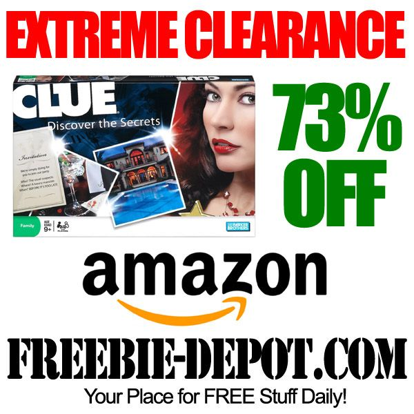 EXTREME CLEARANCE - Clue Board Game - 73% OFF - Clearance Toys and Games on Amazon #clearance