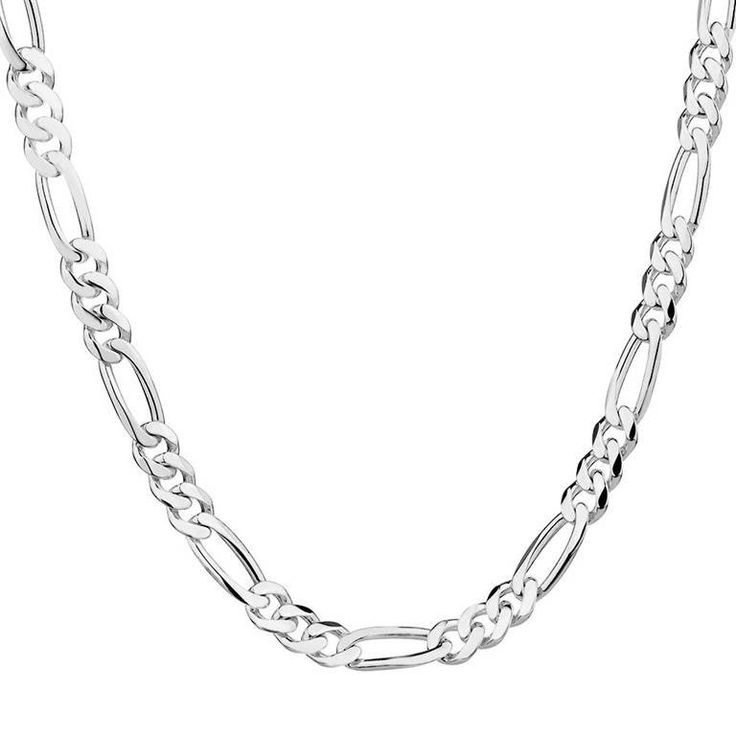 Wholesale 1pc Silver 2mm Fashion Figaro Chain Necklace for Men Jewelry 16inch-30inch Free Shipping
