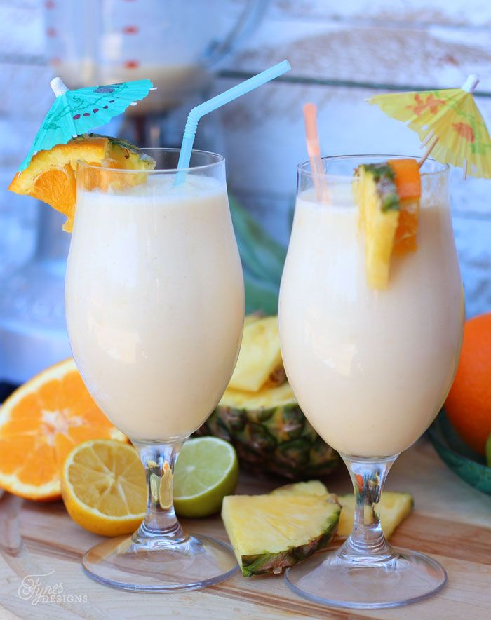 Healthy Fruit Smoothie Recipie- Pineapple, Banana, orange. Tastes so delicious