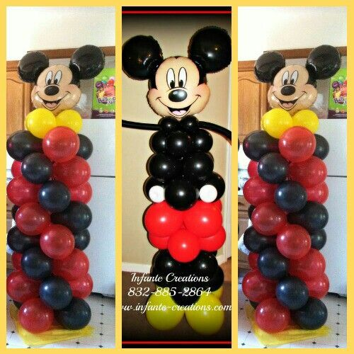 Mickey mouse columns balloon arches and columns pinterest mickey mouse mice and balloon