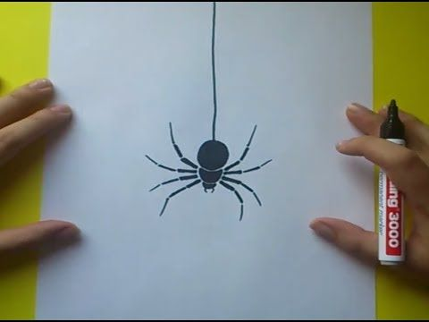 Como dibujar una araña paso a paso 4 | How to draw a spider 4 - YouTube