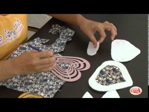 Alciana Rossi ensina a fazer um coelhocom gabarito coração da we care about