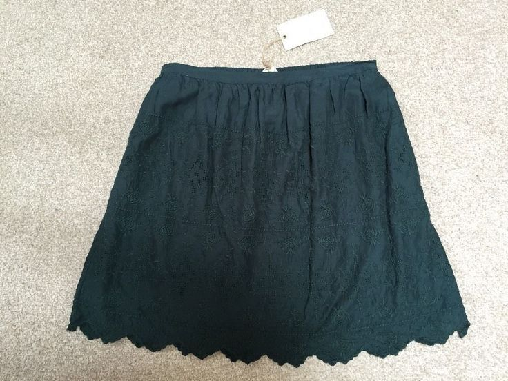 M&S INDIGO Collection PURE MODAL Summer Lined SKIRT BNWT UK16 Embroidered