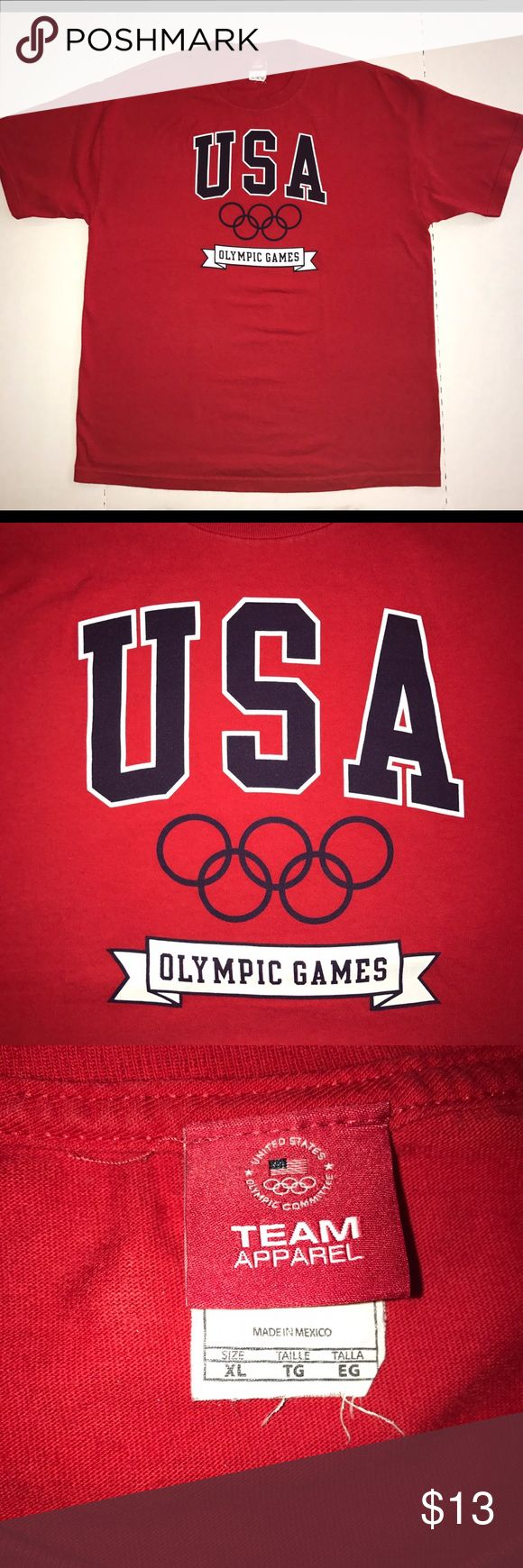 United States Olympic Team Tee Authentic United States Olympic Committee Team Apparel tee shirt, in pristine condition except for the slight fraying of the tag. Otherwise, this item is like new. Fits like a large USA Olympic Team Commitee Team Apparel Shirts Tees - Short Sleeve