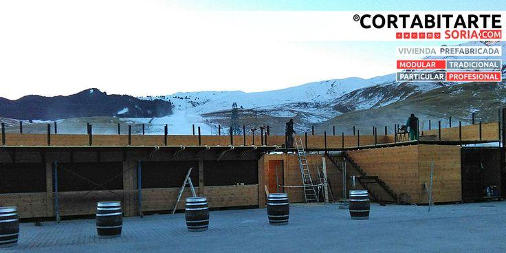 PROYECTOS   #modular #profesional módulos bar & servicios wc & terraza elevada >> rematando la instalación... #Formigal #SallentDeGallego #HUESCA · para Aramón Formigal-Panticosa Marchica Formigal