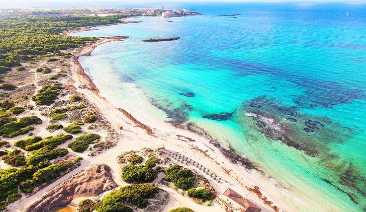 """Strand """"Platja es Trenc"""" bei Campos im Süden von Mallorca"""