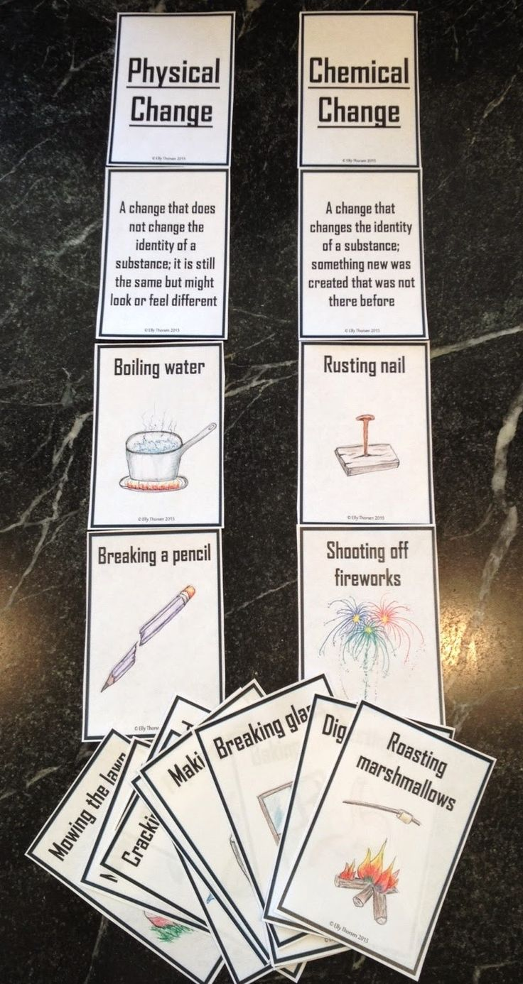 25 best chemical change ideas on pinterest physical change physical and chemical changes card sorting activity robcynllc Choice Image