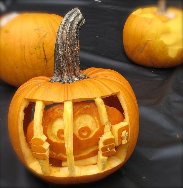 Let me out! pumpkin carving