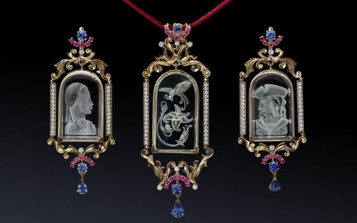 Jewelry Photography. Ювелирные украшения с драгоценными камнями. Инталия. Jewellery Diamonds