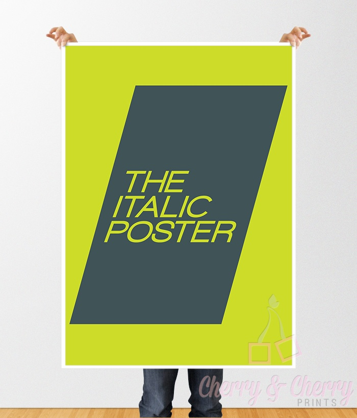 Cherry & Cherry PRINTS - The Italic Poster Cod produs: D-075 Disponibil în...