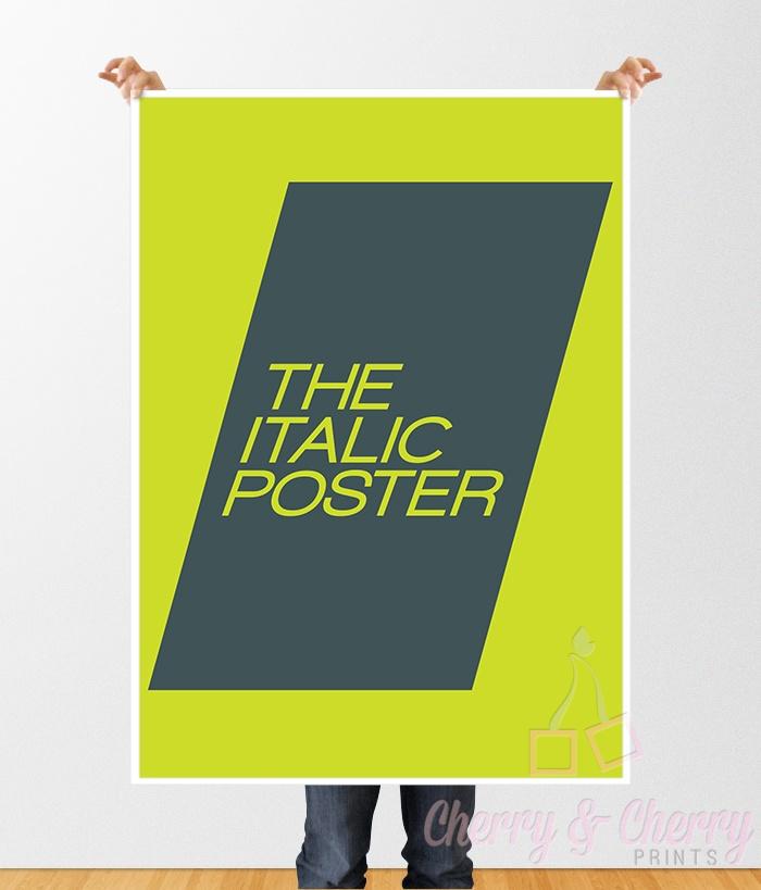 Cherry & Cherry PRINTS - The Italic Poster Cod produs: D-075 Disponibil în...