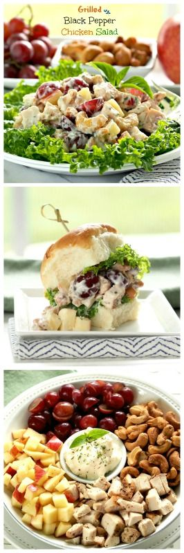 Grilled Black Pepper Chicken Salad - serves as a sandwich or on a bed of crispy lettuce is the perfect meal for so many occasions.  www.simplysated.com