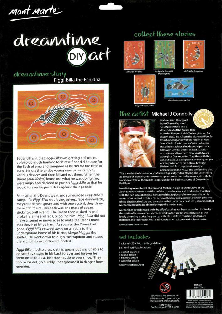 Piggi-Billa the Echidna - DIYA02 $10.00 per pack or Set (6) - $55.00