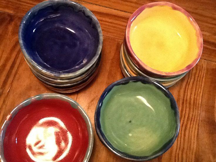 Cazuelas coloridas