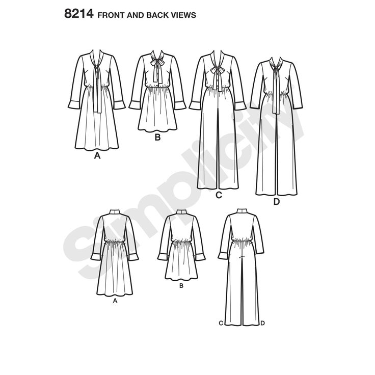 Simplicity 8214 - Dresses and Jumpsuits