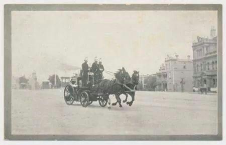 Melbourne fire brigade:Eastern Hill in 1898.A♥W