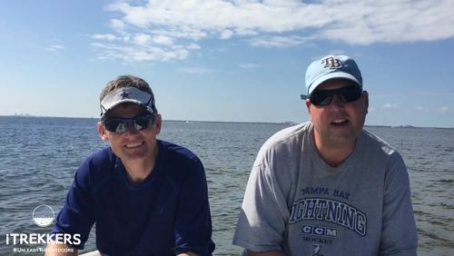 """Another great day on the Bay with iTrekkers! You can learn to fish with Captain Jason and our other guides right on the beach during our next """"Intro to Fishing: How to bait, Cast, Reel, and Land a Fish!"""" events. https://video.buffer.com/v/5a13c2e1004df93b5738a139"""