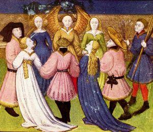 1420 -30. Ilustración del manuscrito de Roman de la Rose. EL HOMBRE DEFINE SU SILUETA – SIGLOS XIV Y XV