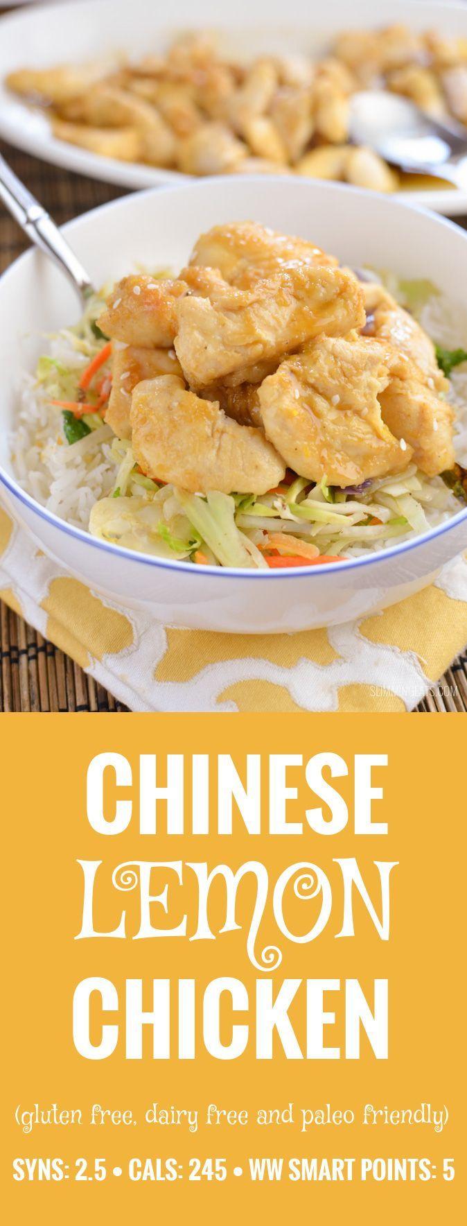 Slimming Eats Chinese Lemon Chicken - gluten free, dairy free, paleo, Slimming World and Weight Watchers friendly