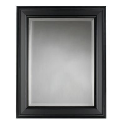 Martha Stewart Living Grasmere 30 In X 24 In Black Framed Mirror