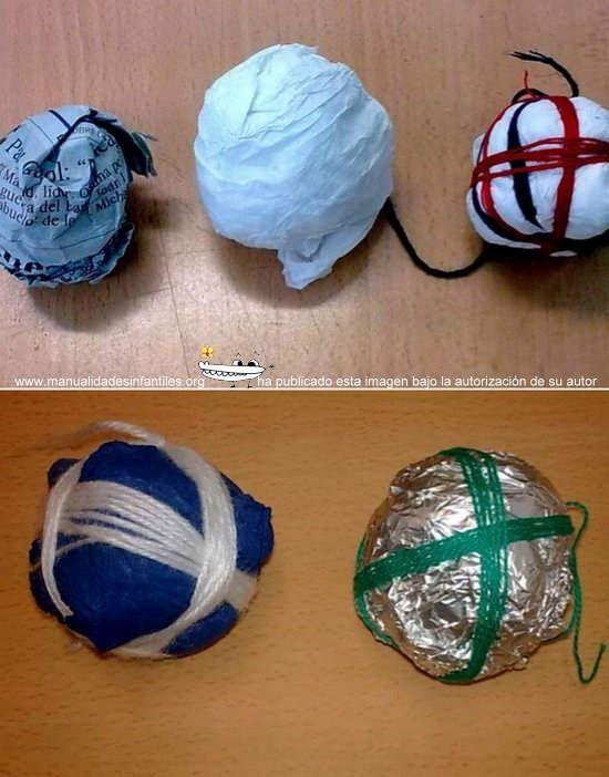 Adornos navide os para ni os bolas recicladas http www for Adornos navidenos para ninos
